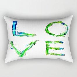 LOVE Makes the World A Better Place Rectangular Pillow
