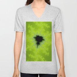 Fractal Mandelbrot Green Unisex V-Neck