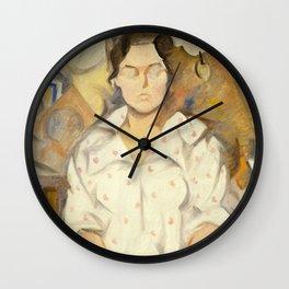 Rafael Barradas - Portrait of Pilar, 1919 Wall Clock