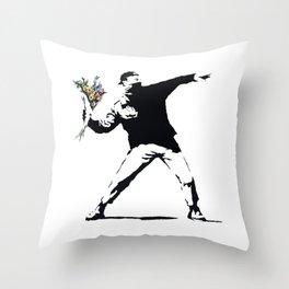 Flower Thrower Throw Pillow