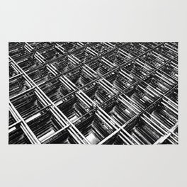 Rebar On Rebar - Industrial Abstract Rug