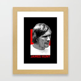 Formula One - James Hunt Framed Art Print