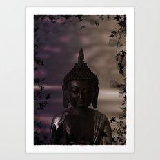 Flower Buddha Art Print