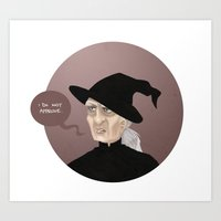 discworld Art Prints featuring Granny WeatherWax by Camille  Vincent