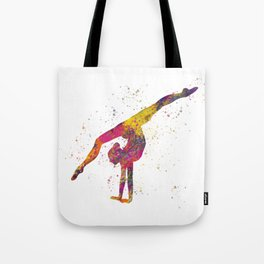 Rhythmic gymnastics competition in watercolor 04 Tote Bag