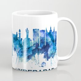 Hyderabad Telangana Skyline Blue Coffee Mug