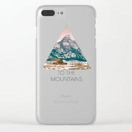 Grand Tetons Barn Clear iPhone Case