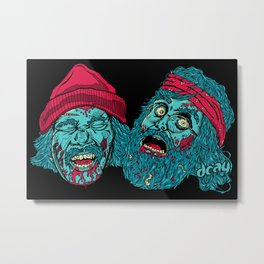 Dead in Smoke Metal Print