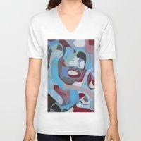 coke V-neck T-shirts featuring Cherry Coke by MadisonBlochArt