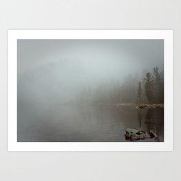 rain&fog Art Print