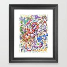 Graffiti Abstract Framed Art Print