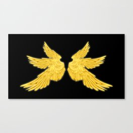 Golden Archangel Wings Canvas Print
