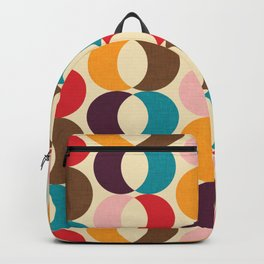 Mid Century Modern Circles Backpack
