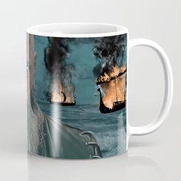 Ragnar Lothbrok Painting, King of the Northmen Coffee Mug