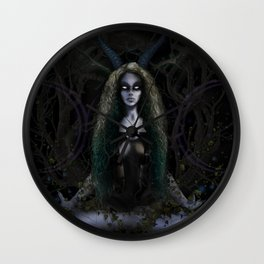 Earth Witch - Elements Collection Wall Clock