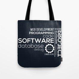 Programmer: Typography Programming Tote Bag