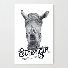 Rhino Strength Canvas Print