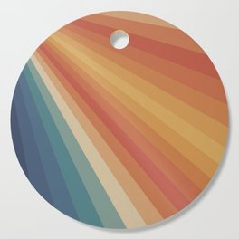 Retro 70s Sunrays Cutting Board