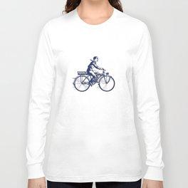 Vintage Bike Boy Long Sleeve T-shirt