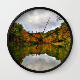 Reflection Photo at Fish Pond Lake outside of Jenkins, Kentucky Wall Clock