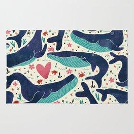 Whale Love Rug