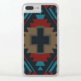 American Native Pattern No. 45 Clear iPhone Case
