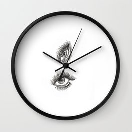 Eye of the Tigeress Wall Clock