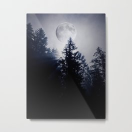 Midnight Moon Metal Print