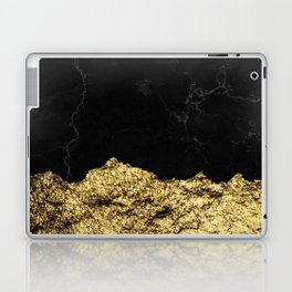 Rough Gold Torn and Black Marble Laptop & iPad Skin