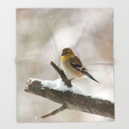Out on a Limb (American Goldfinch) Throw Blanket