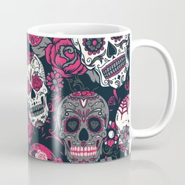Pink Sugar Skull Coffee Mug
