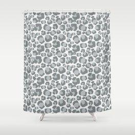 Snow Leopard Feline Shower Curtain