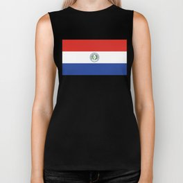 Paraguay Flag, High Quality Authentic scale & color Biker Tank