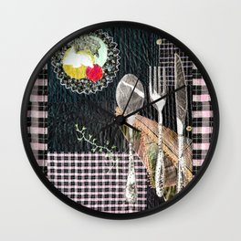 Late night dinner Wall Clock