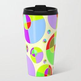 Bubble yellow & purple 10 Travel Mug