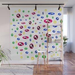 Numerosas flechas de colores apuntando a direcciones Wall Mural