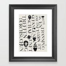 We face the Type! Framed Art Print