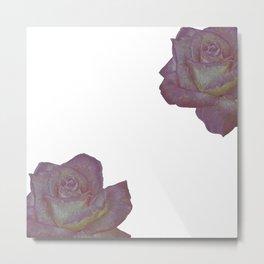 Pink and Yellow Rose Metal Print