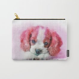 Lacy's Eyes - A Puppy Portrait Carry-All Pouch