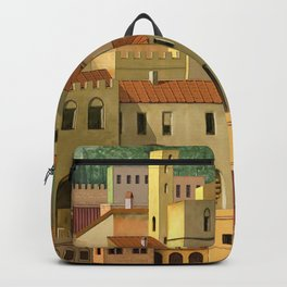 Medieval city Backpack