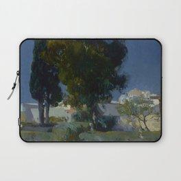 Joaquín Sorolla y Bastida (Spanish, 1863 - 1923) Corner of the Garden, Alcazar, Sevilla, 1910, Oil Laptop Sleeve