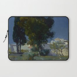 Joaquín Sorolla y Bastida (Spanish, 1863 - 1923) Corner of the Garden, Alcazar, Sevilla, 1910, Oil Laptop Sleeve