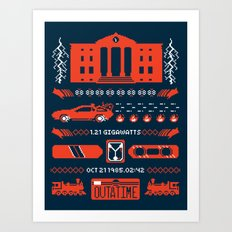 1.21 Stitches Art Print