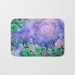 Lily Pads in Space Bath Mat
