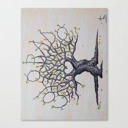 Fall Colorado Love Tree Art Canvas Print