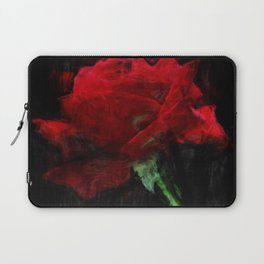 Red Rose Impressionist Painting Laptop Sleeve