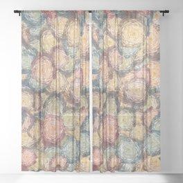 Circular shapes abstract Sheer Curtain