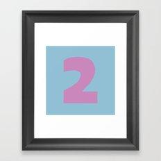 Number 2 Framed Art Print