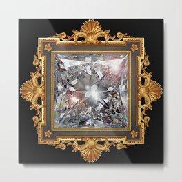 Royal Princess cut Diamond Metal Print