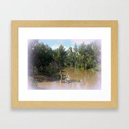 Dead trees Scuplture Framed Art Print